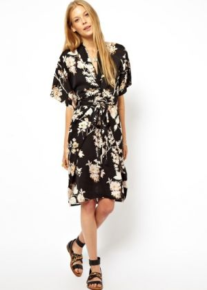 Obi Wrap Dress In Oriental Bird Print from ASOS.jpg
